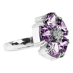 Amethyst Blossom Large Stone Ring