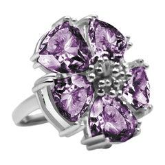 Amethyst Blossom Stone Ring