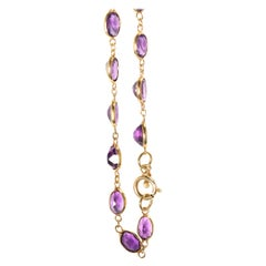 Amethyst Chain in 18 Karat Gold