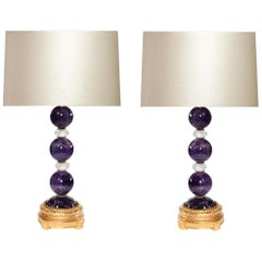 Amethyst Crystal Lamps by Phoenix