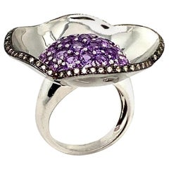 Amethyst Diamond Cocktail Ring