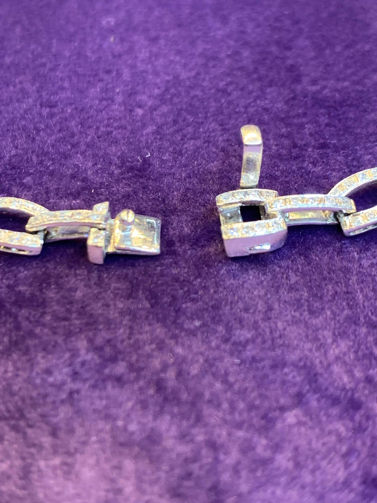 Amethyst and Diamond Drop Necklace In Excellent Condition For Sale In New York, NY
