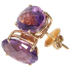 Amethyst Earrings in 14 Karat