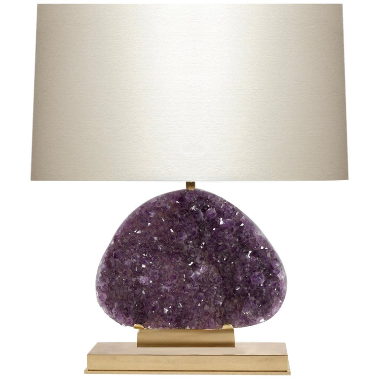 Amethyst Geode Cluster Lamp For Sale