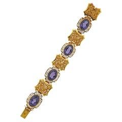 Amethyst Gold Bracelet