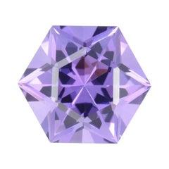 Amethyst Hexagon 9.10 Carat Brazil Star of David Gem Loose Unset Gemstone