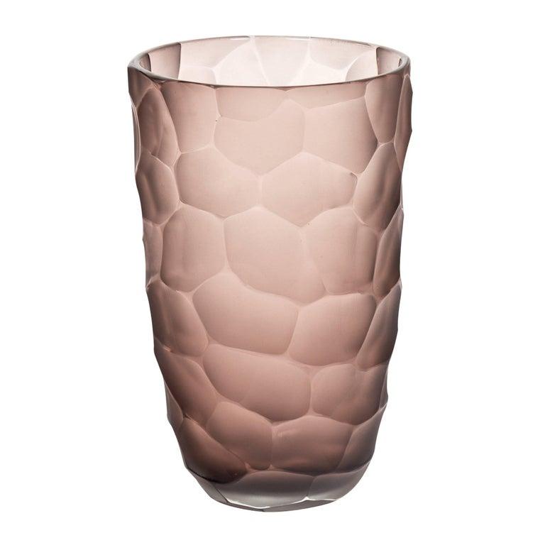 """Amethyst Murano Glass """"Battuto"""" Vase"""