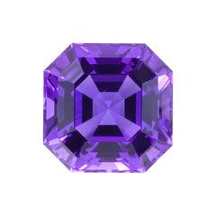 Amethyst Necklace Ring Gem 83.27 Carat Asscher Cut Brazilian Loose Gemstone