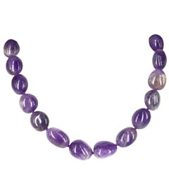 Amethyst Nugget Gold Necklace