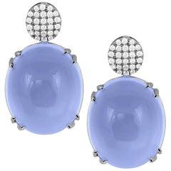 Amethyst Oval Cab Motif Earrings