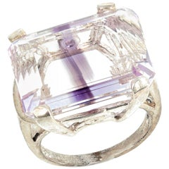 Amethyst Quartzy Sterling Silver Ring