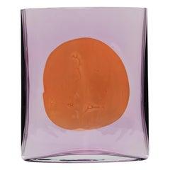 Amethyst Reddish Big Isla Glass Vase