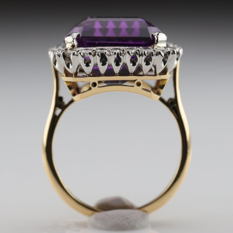 Amethyst Ring by British Royal Jeweler in Original Box with Receipt For Sale 4