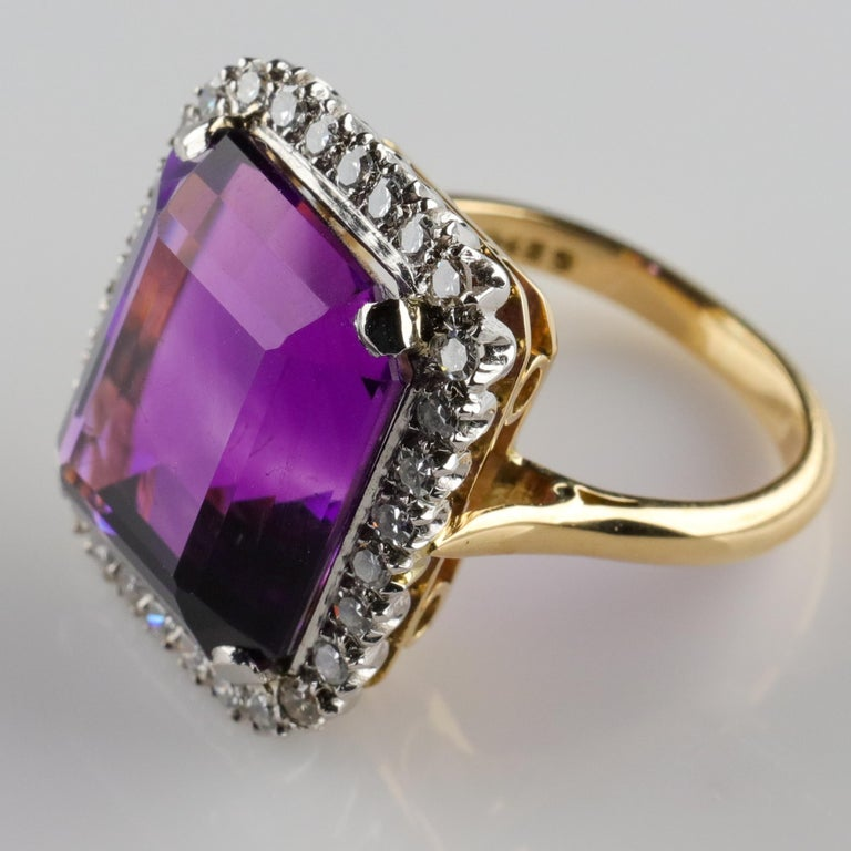 Amethyst Ring by British Royal Jeweler in Original Box with Receipt For Sale 5