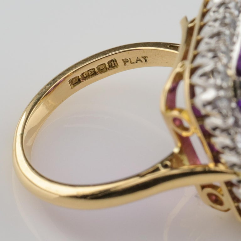 Amethyst Ring by British Royal Jeweler in Original Box with Receipt For Sale 7