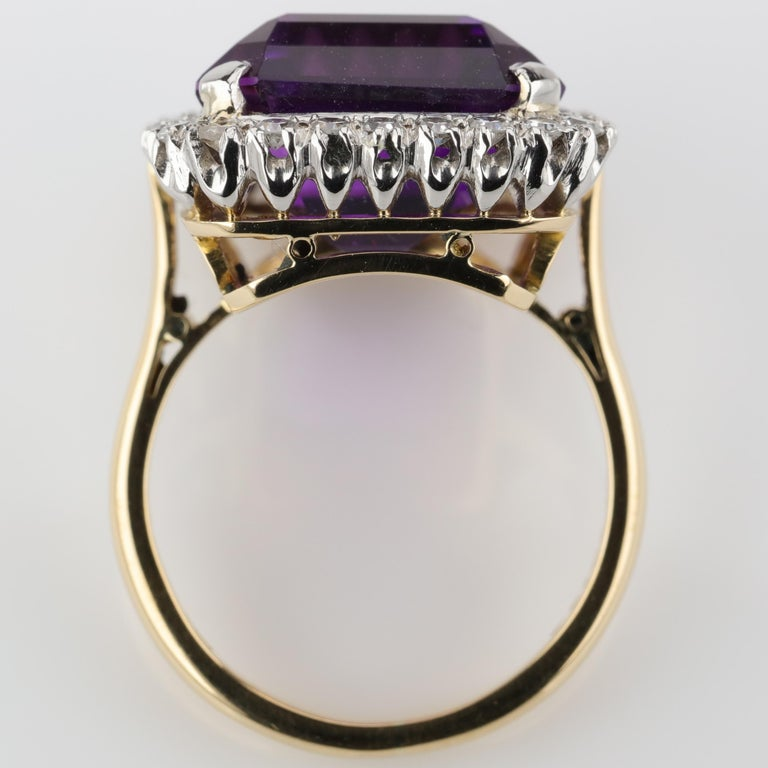 Amethyst Ring by British Royal Jeweler in Original Box with Receipt For Sale 8