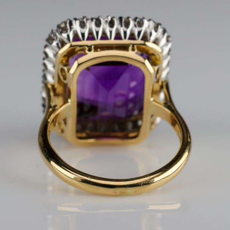 Women's Amethyst Ring by British Royal Jeweler in Original Box with Receipt For Sale