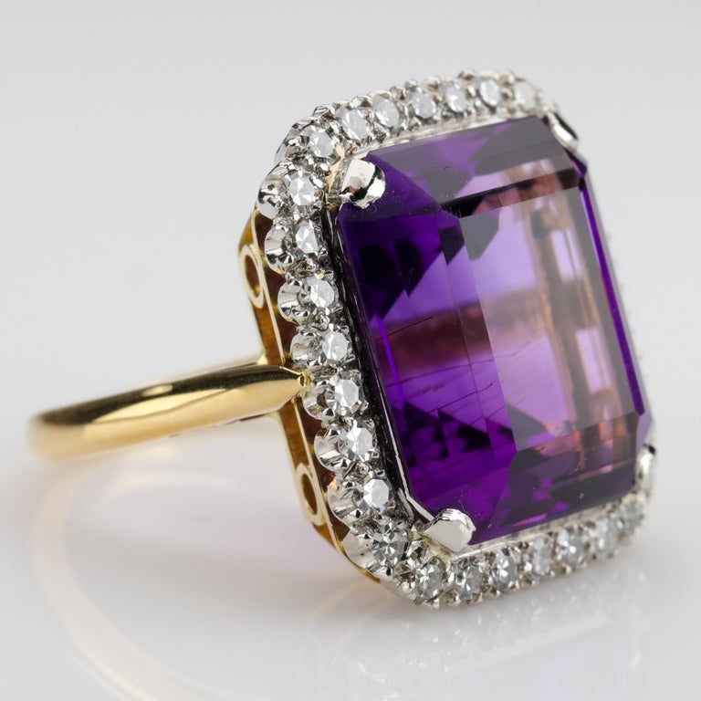 Amethyst Ring by British Royal Jeweler in Original Box with Receipt For Sale 2