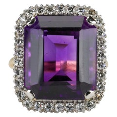 Amethyst Ring by British Royal Jeweler in Original Box with Receipt