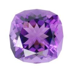 Amethyst Ring Gem 16.19 Carat Unmounted Square Cushion Loose Gemstone