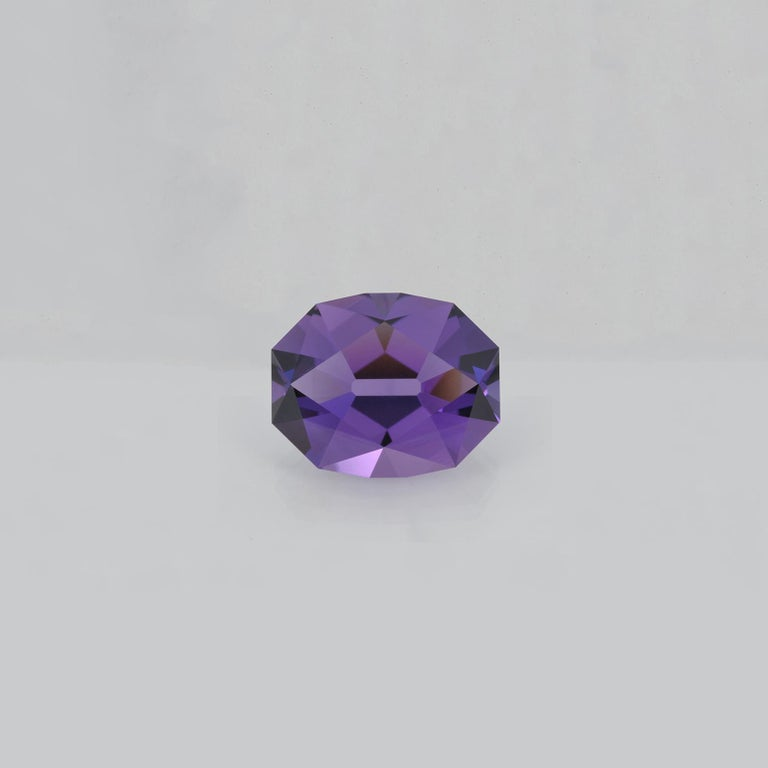 Modern Amethyst Ring Gem 18.80 Carat Unset Fancy Oval Brazil Loose Gemstone For Sale