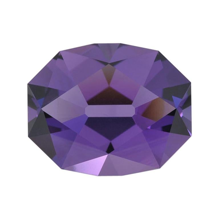 Amethyst Ring Gem 18.80 Carat Unset Fancy Oval Brazil Loose Gemstone For Sale