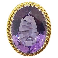 Amethyst Ring Set in 18 Karat White Gold Settings