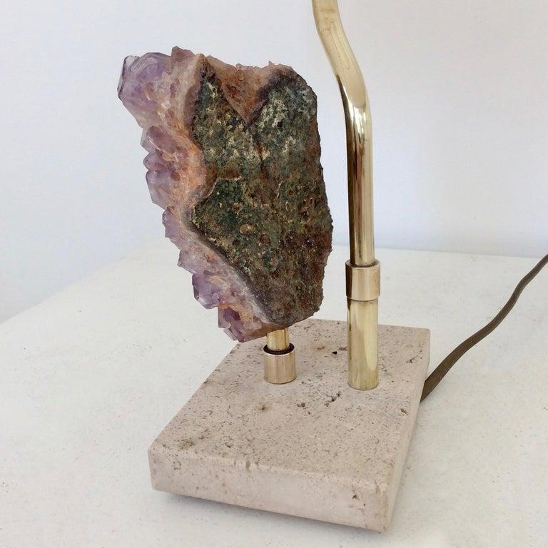 Amethyst Rock Table Lamp, circa 1970, Belgium For Sale 3
