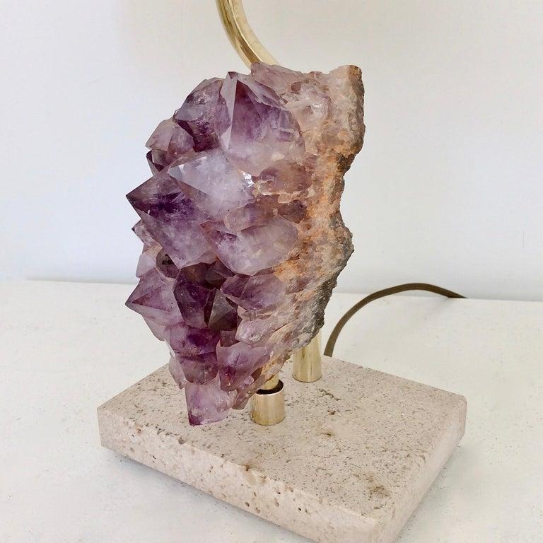 Amethyst Rock Table Lamp, circa 1970, Belgium For Sale 5