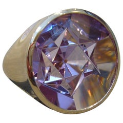 "Amethyst Rose Gold Ring ""Star of David"" Wagner Collection"