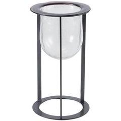 Amethyst Silver Murano Glass Vase, Canaletto