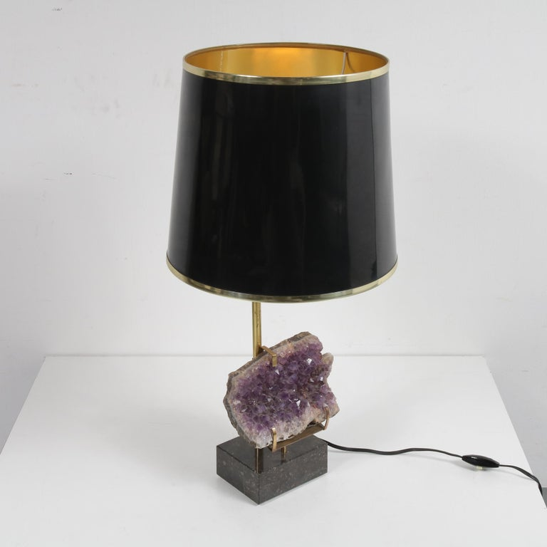 Amethyst Table Lamp in the Style of Willy Daro, 1970 For Sale 5