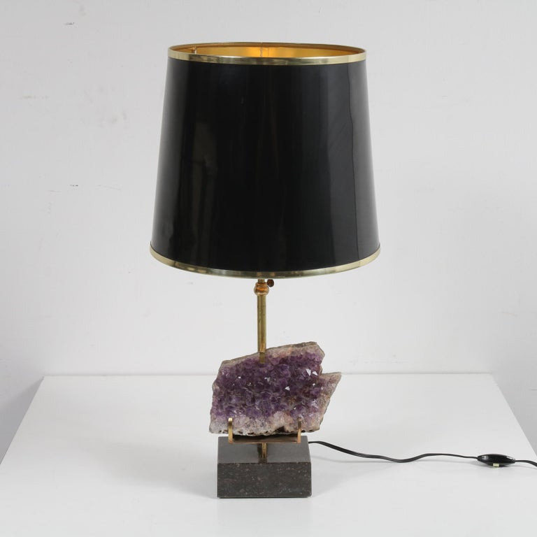 Belgian Amethyst Table Lamp in the Style of Willy Daro, 1970 For Sale