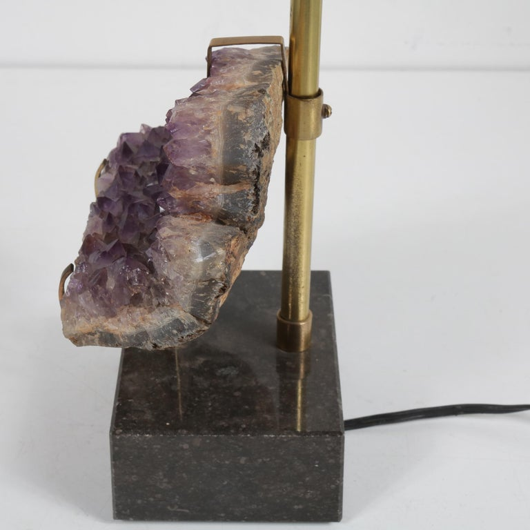 Amethyst Table Lamp in the Style of Willy Daro, 1970 For Sale 1