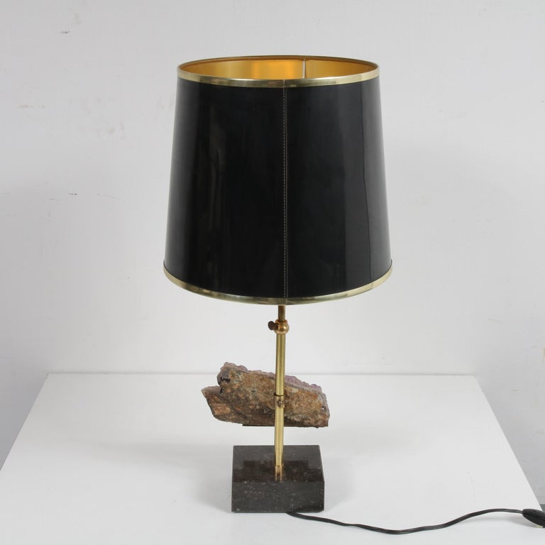Amethyst Table Lamp in the Style of Willy Daro, 1970 For Sale 3