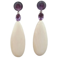 Amethyst White Gold Diamonds and Fossil Siberian Mammouth Ivory