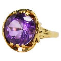 Amethyst Yellow Gold Cocktail Ring