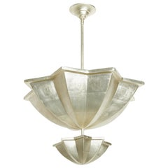 Amina Pendant Light in White Gold by David Duncan
