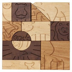 """Aminal"" Blocks Wooden Children's Blocks in Animal Shapes by Studio DUNN"