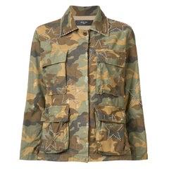 Amiri Camouflage Cotton Studded Field Jacket