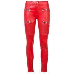 Amiri LX1 Leather Skinny Jeans