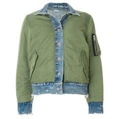 Amiri Reversible Nylon and Denim Bomber Jacket