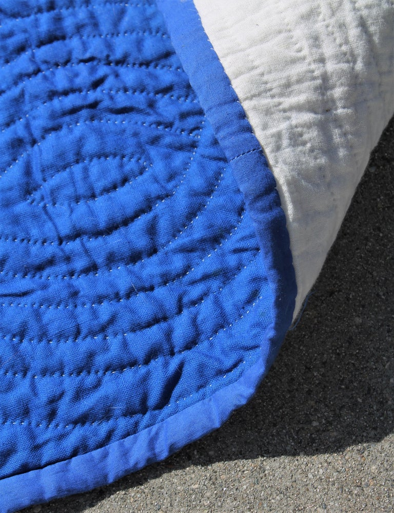 Amish Antique Quilt, Drunkers Path In Good Condition For Sale In Los Angeles, CA