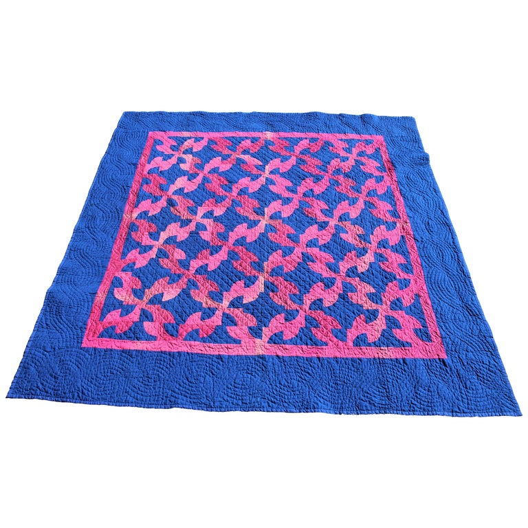 Amish Antique Quilt, Drunkers Path For Sale