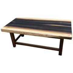 Amish Artisan Made Poplar Live Edge Coffee Table