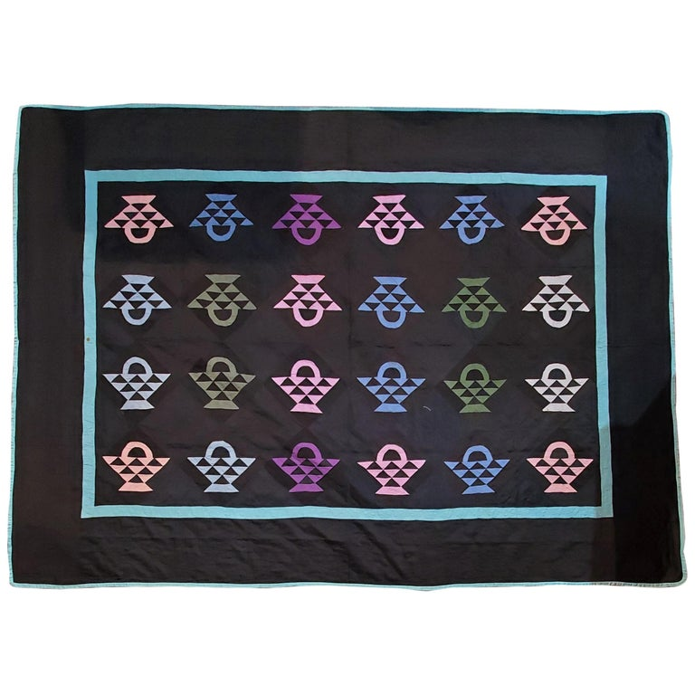 Amish Baskets Quilt from Holmes County, Ohio For Sale
