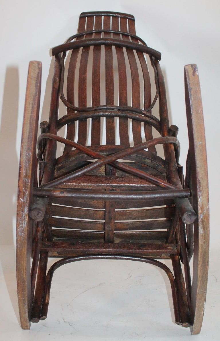 Amish Bent Wood Child's Rocking Chair For Sale 2