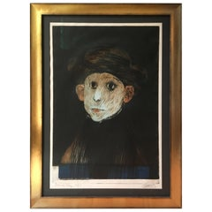 """Amish Boy"" Aquatint by Mauricio Lasansky"