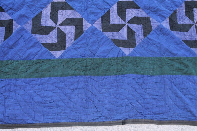 Adirondack Amish Fly Foot Quilt For Sale
