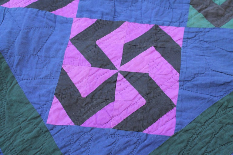 American Amish Fly Foot Quilt For Sale